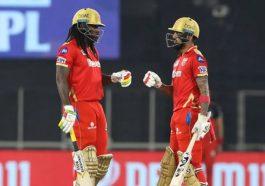 Chris Gayle and KL Rahul