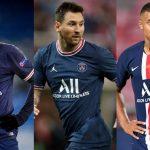 Lionel Messi, Kylian Mbappé and Neymar
