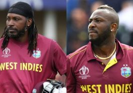Chris Gayle and Andre Russell